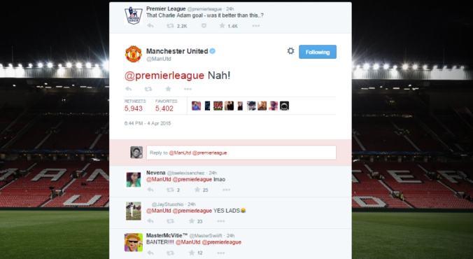 The Twitter exchange that led the banter bus to crash.