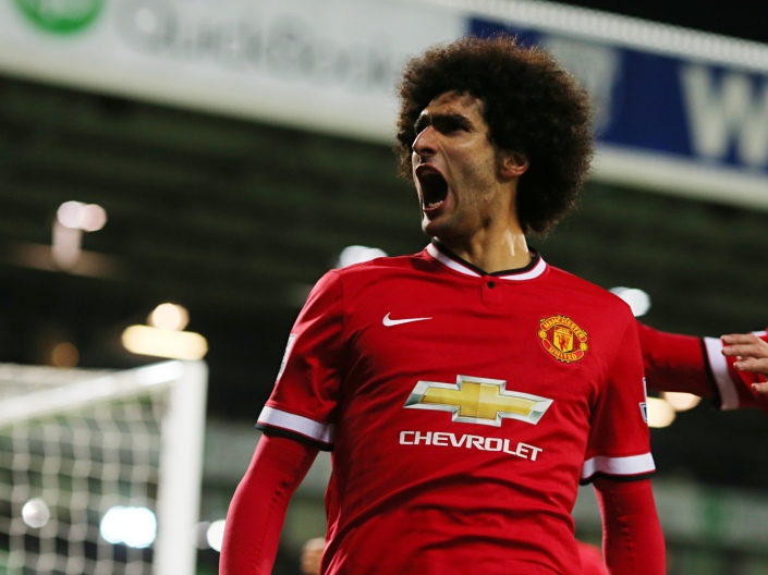 Marouane Fellaini - kind of like a tree. (Photo: Guardian)