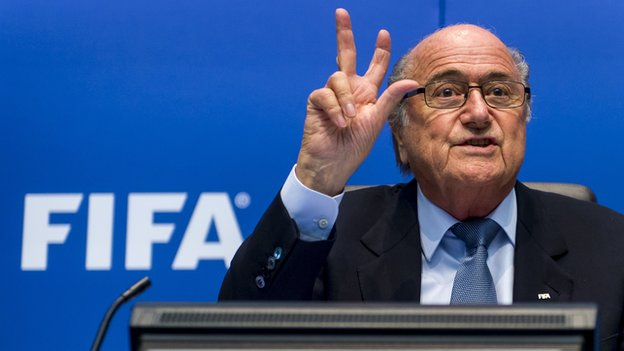 Blatter when asked the number of genocides he has personally supported in the last year. (Photo: BBC)