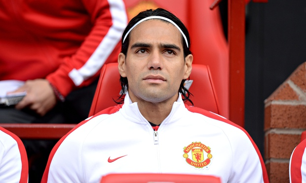 Falcao often has the look of a man fighting against the forces of nature.