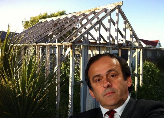 Platini, glasshouse, UEFA