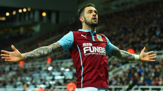 Danny Ings celebrating one of his many goals during this season's campaign. (Photo: RTE)
