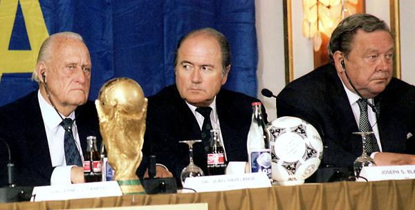 Blatter pictured in the late 1990s with his family bottle of Coca Cola, passed down to him by his father.