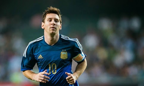 Messi - the greatest humanoid to ever touch a football.