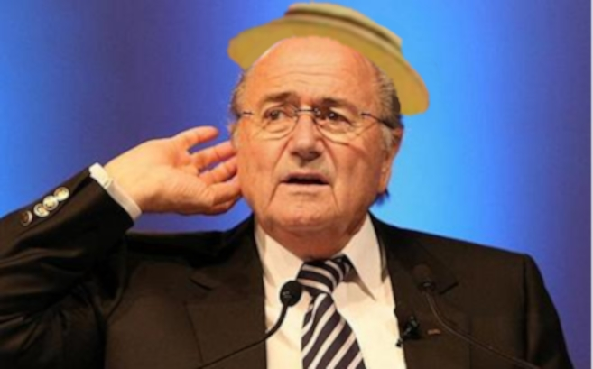 Sepp Blatter received a rapturous reception from the crowd.