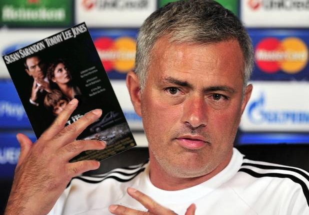 Mourinho eventually settled on blaming 1994 thriller The Client, should his side lose to Arsenal today.
